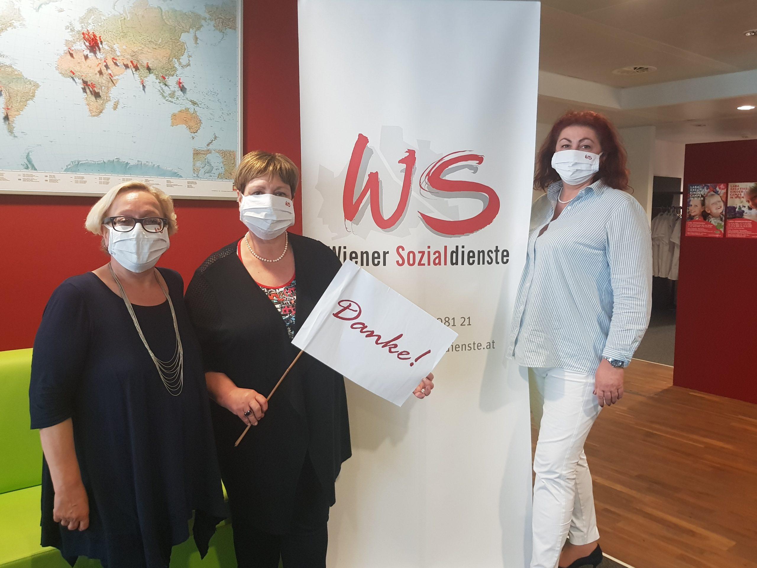 v.l.n.r. Vera Steiner, Gabriele Votava und Susanne Voglhuber